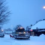 Södra Möckelby, Öland. Vinter. Snöoväder.