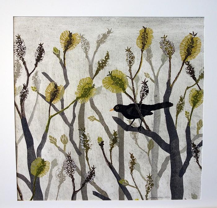 Fågelmotiv av Josefin Wedel.