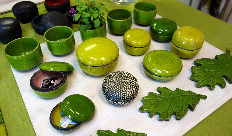 Rekubränd keramik av Kristna Klockar.