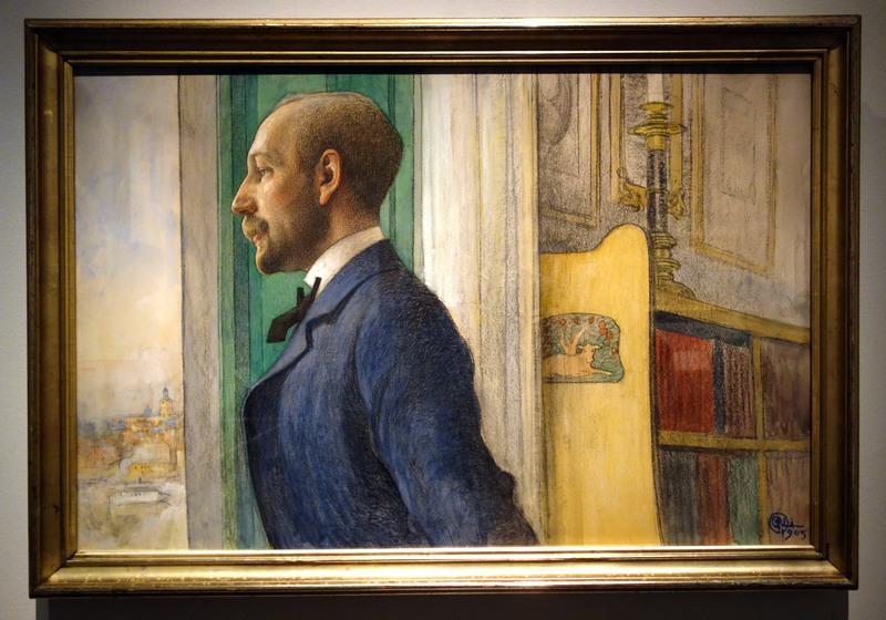 Carl Larsson porträtt av författaren Carl G Laurin.