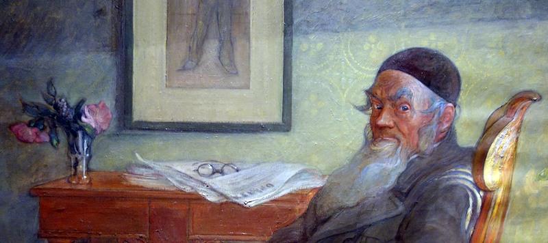 Carl Larsson porträtt av fadern