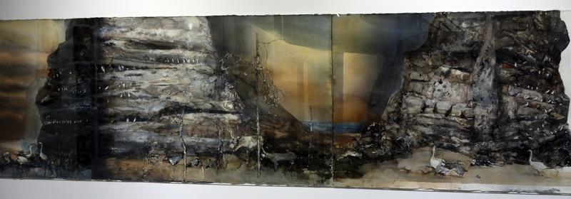 Lars Lerin. Diorama. Akvarell