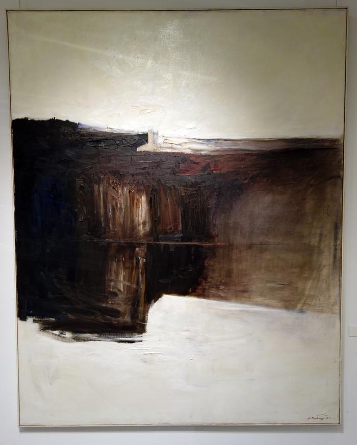 Gruvlave, oljemålning av Svante Rydberg