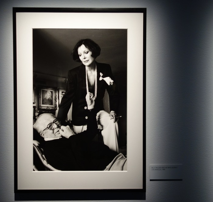 Helmut Newton. Porträtt av Billy Wilder med fru.