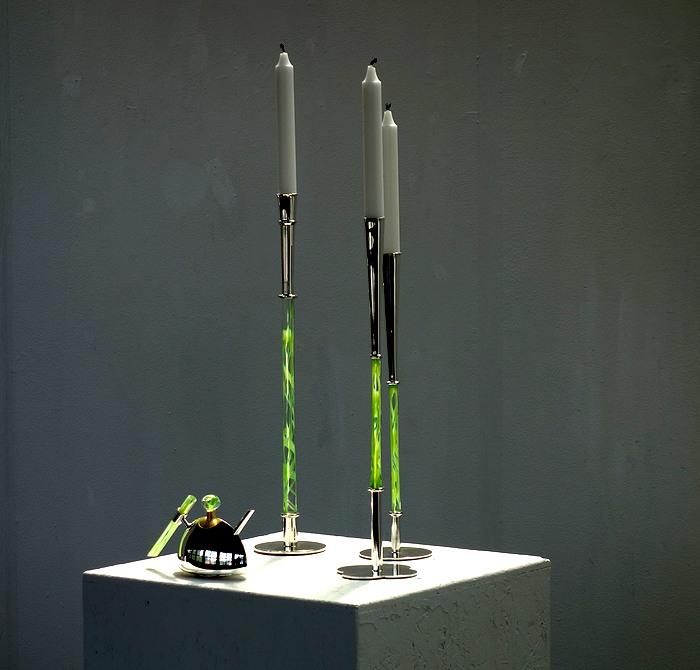 Silverföremål av Karl Heinz Sauer på Virsbo konsthall