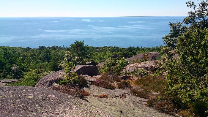 Blå Jungfrun. Utsikt åt söder.Foto Anders Ehrlemark 2013