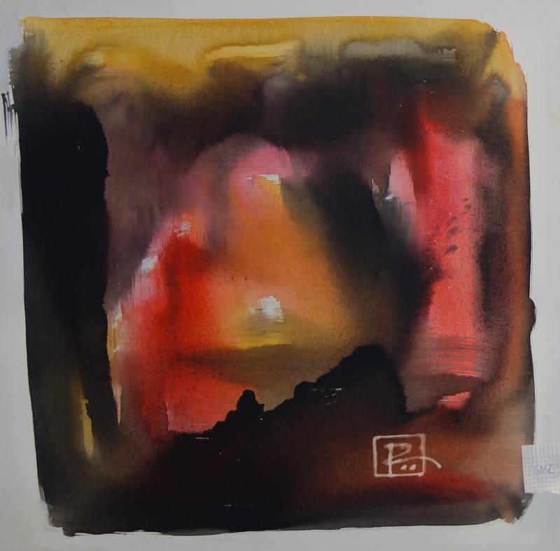 Abstrakt tavla av Bertil Roos