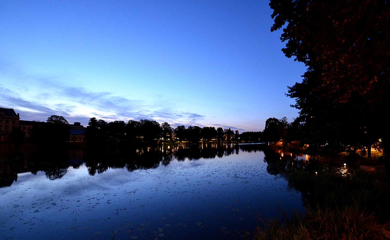 Kvällsljus över Eskilstunaån. Foto Anders Ehrlemark 2013