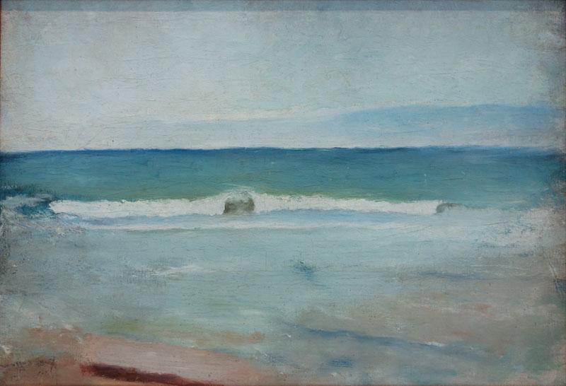 Strand, oljemålning av Ivan Aguéli