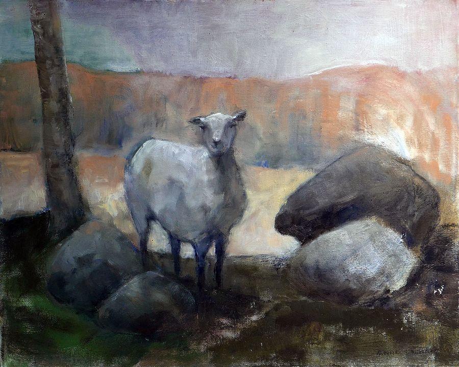 Fundersam - målning av Gunnel Lindberg