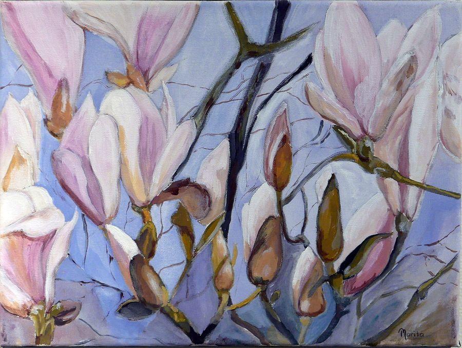 Magnolia - målning av Marita Zeidlitz