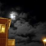 Fullmåne över Eskilstuna. Full moon over Eskilstuna